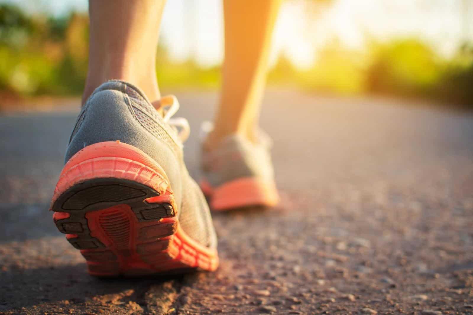 probiotics for bloating: walking
