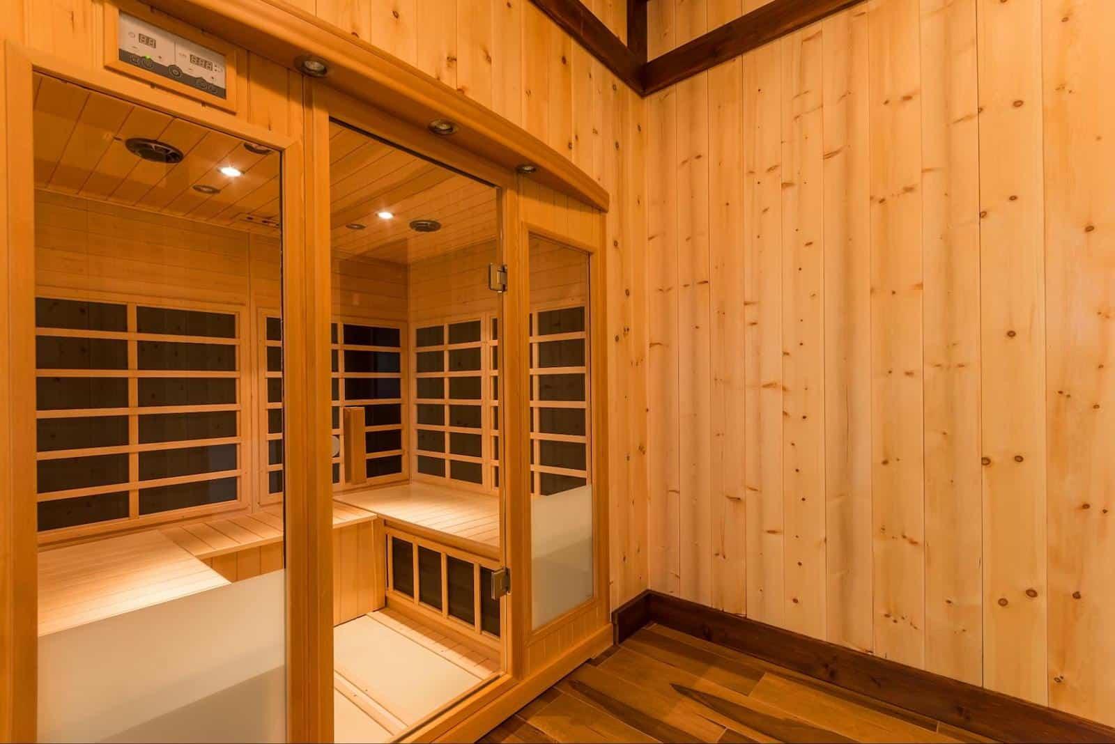 infrared sauna benefits and disadvantages: empty sauna